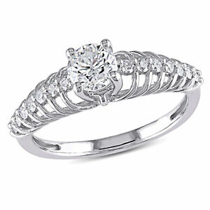Amour 3/4 CT Diamond TW Engagement Ring in 14K White Gold