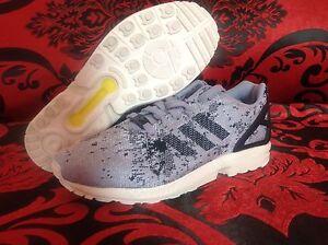 c7d24a36c4f3c adidas Originals ZX flux Weave B23601 mens Shoes Gray black 100 ...