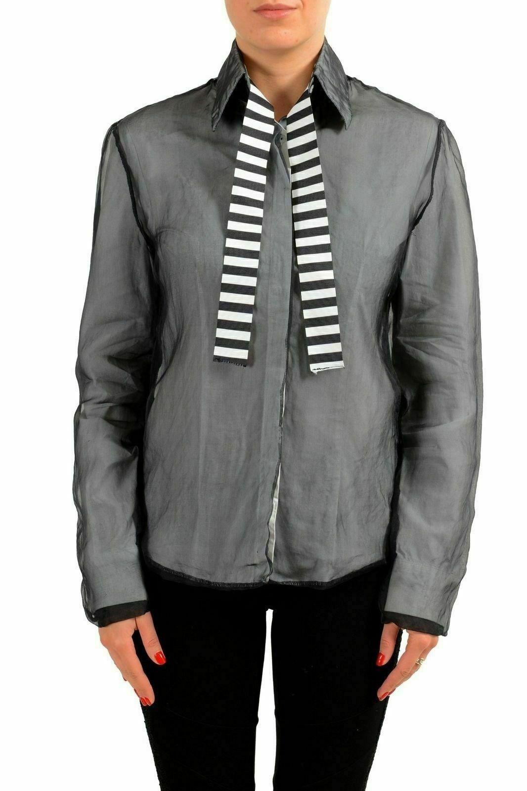 Gianfranco Ferre GF Woherren Silk Layerot Button Down Shirt Blouse US XS IT 38