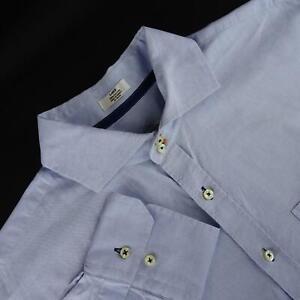 Mens-Peter-Millar-Titleist-Golf-Crown-Blue-Oxford-Golf-Dress-Shirt-Size-Large-L