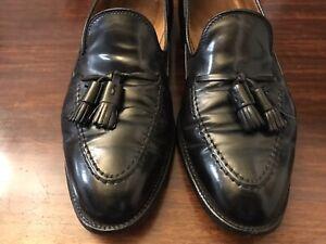 Shell-Cordovan-Alden-Brooks-Brothers-Tassel-Loafer-shoe-9-5-Black-Made-USA