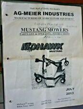 Ag Meier Mustang 60 Finishing Mower Parts List Amp Operating Instructions
