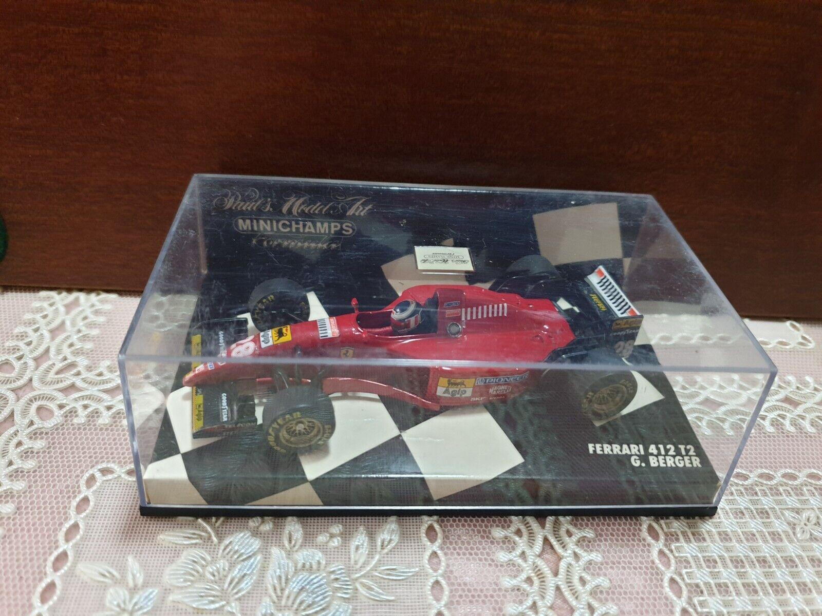 ventas al por mayor Model Ferrari 1 43 Ferrari Minichamps G BERGER BERGER BERGER  412 T2 1995  ofreciendo 100%