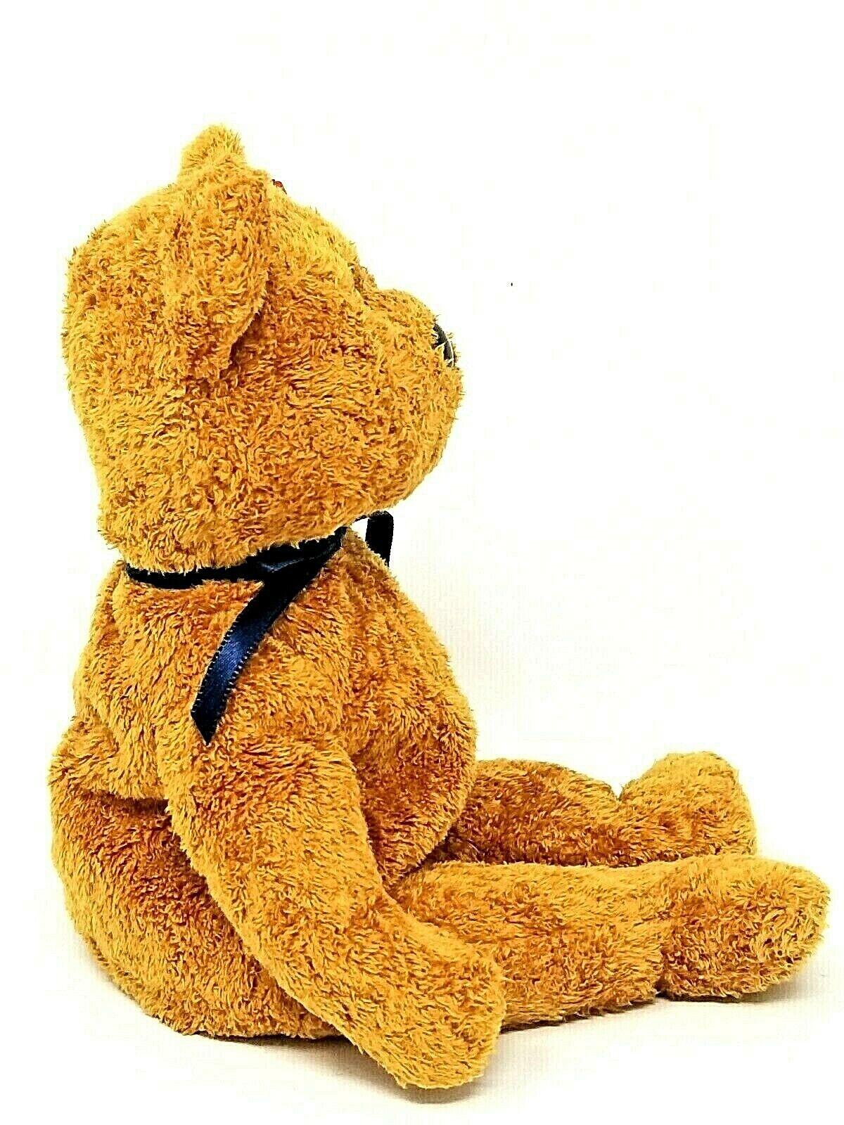 TY BEANIE BEANIE BEANIE BABY FUZZ THE NAPPY BROWN BEAR W ERRORS DATE OF BIRTH  JULY 23, 1998 750cd6