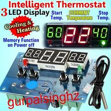 Intelligent -9°C-99°C Digital Thermostat Temperature Control Switch DC12V W1401