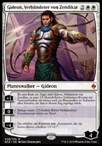 mint, deutsch Verbündeter von Zendikar Gideon Ally of Zendikar // Gideon