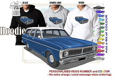 70-72 XY FAIRMONT WAGON HOODIE ILLUSTRATED CLASSIC RETRO MUSCLE SPORTS CAR