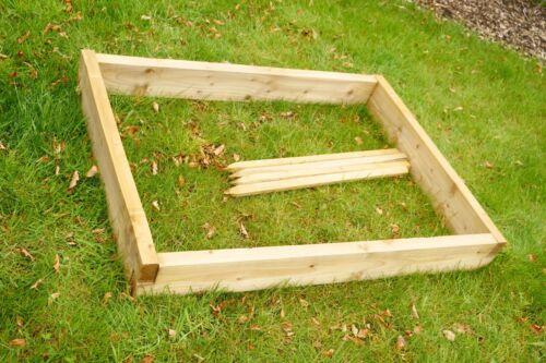 Raised Wooden Bed Kit For Plants Vegetables /& Flowers 1.2m x 90cm x 15cm