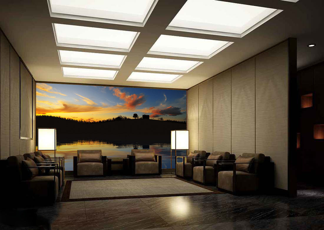 3D Evening Lake Rosy Clouds 29 Wall Paper Wall Print Decal Wall AJ Wall Paper