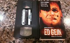 ED GEIN VHS! 2001 Dahmer Deranged The Texas Chainsaw Massacre Ted Bundy