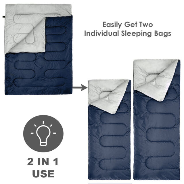Active Era Double Sleeping Bag Converts into 2-3 Extra Large Queen Size
