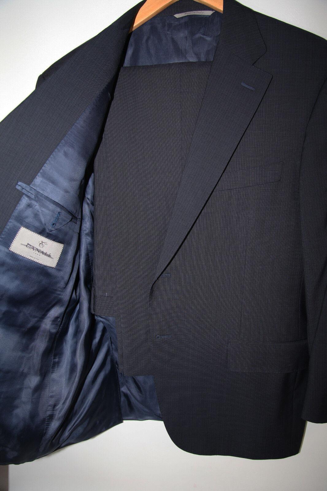 210 CANALI BlauTwo Button Suit Größe 44 Short  MSRP 1,895