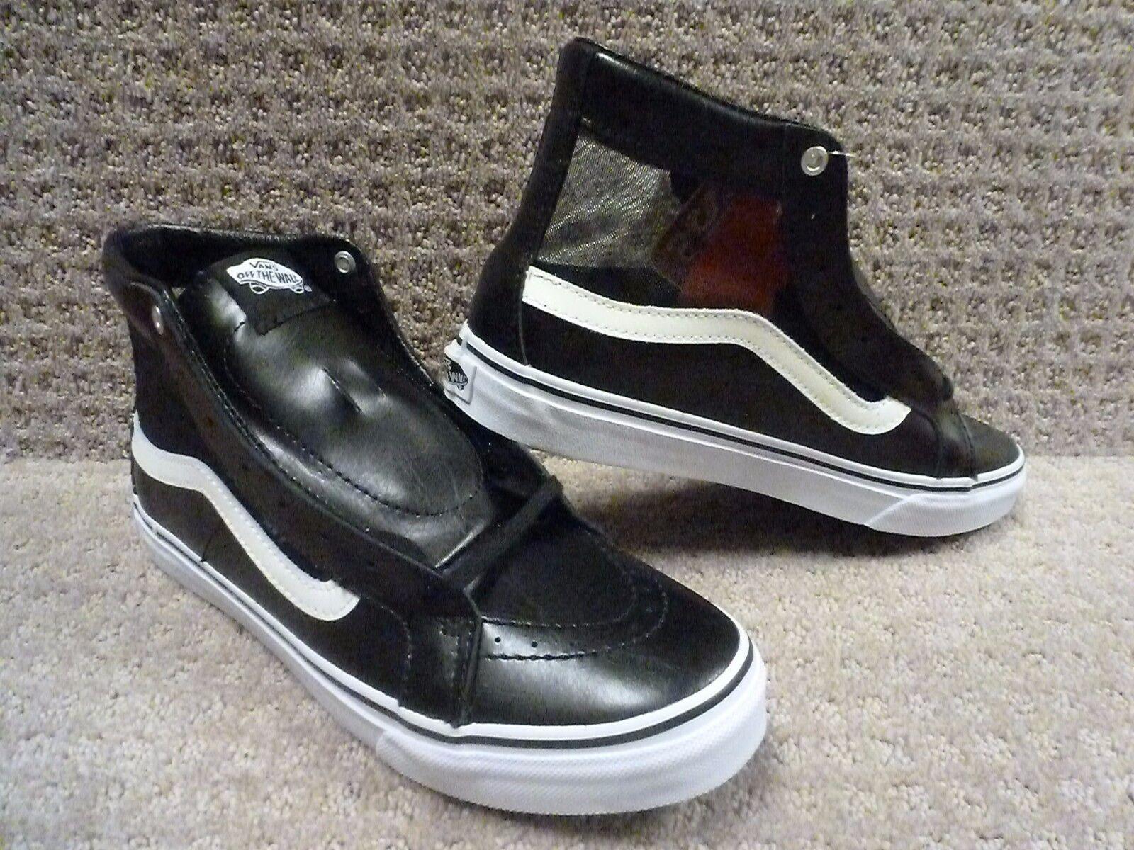 Vans Men's shoes  Sk8-Hi Slim Cutout  (Mesh) Black White , Size 7.5