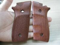 Grips For Taurus Pt 945 With Decocker Checkered With Finger Groove Hardwood