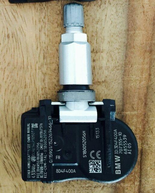 4 PCS Voiture TPMS pneus Moniteur de Pression//Syst/ème dalerte du capteur for BMW F06 F12 F13 F25 F26 X3 X4 Color : Black