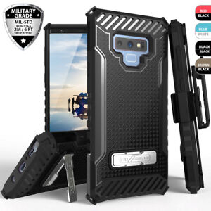 For-Samsung-Galaxy-S10-Plus-Note-9-S9-Shockproof-Belt-Clip-Holster-Stand-Case