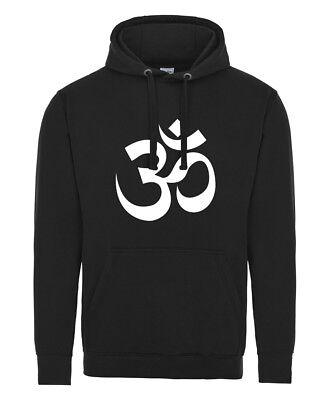 Om Aum symbol SOFT-FEEL HOODIE Buddha Meditation Yoga Mantra Buddhist sign Hoody