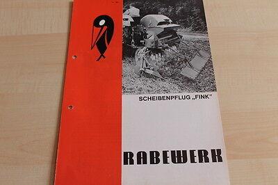 Rabewerk Scheibenpflug Fink Prospekt 01/1973 Fine 144498