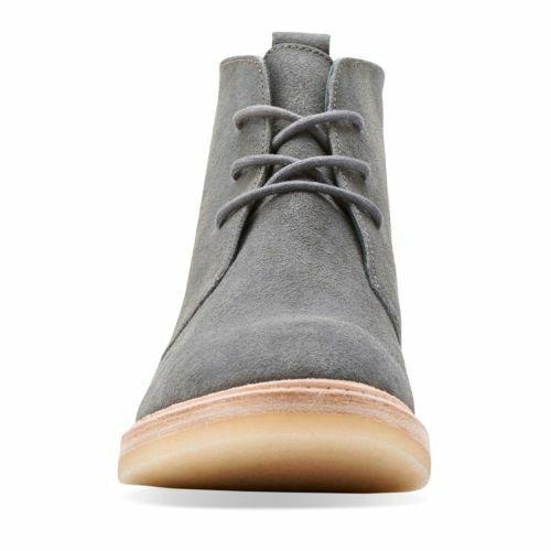 CLARKS Empress Moon Dark Grey Suede Women/'s Desert Boots UK 4 4.5 RRP £120