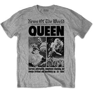 aff52f94d QUEEN ROCK BAND T SHIRT 40TH ANNIVERSARY Heather Grey Bravado NWT SM ...