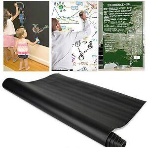 DéLicieux Tableau Noir Craie Board Tableau Noir Tableau Blanc Autocollant Mural Pour Kids Play étude-afficher Le Titre D'origine