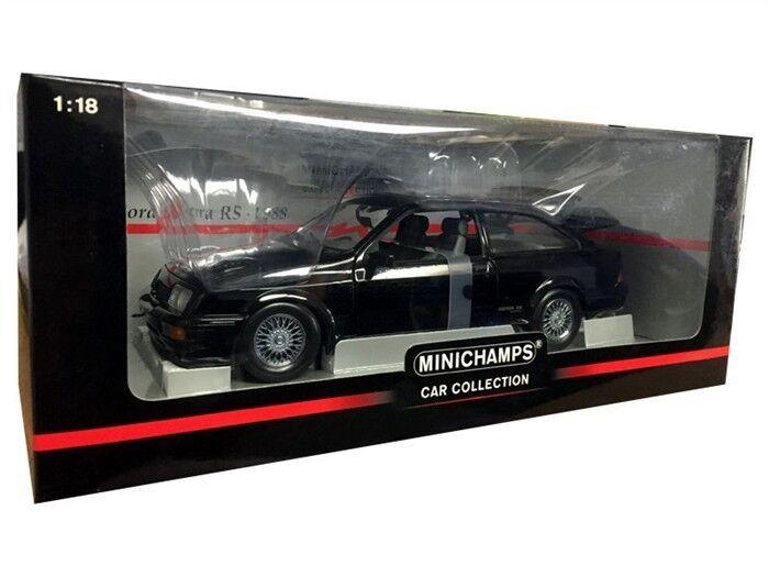 1988 FORD SIERRA RS 1 18 DIE CAST schwarz BY MINICHAMPS 150 084001