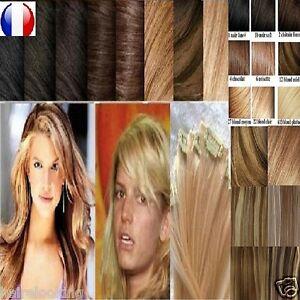 Kit Extensions A Clips Cheveux 100% Naturels Qualite Remy 49-60cm TÊte Complete Distinctive Pour Ses PropriéTéS Traditionnelles