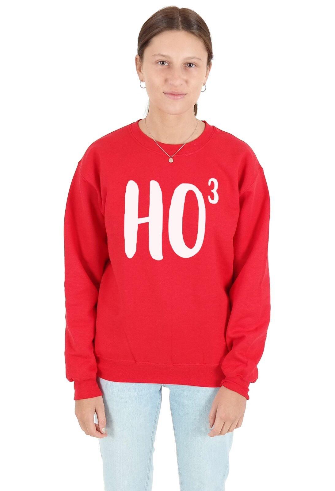 Sudadera Jumper Top Suéter HO3 Navidad Navidad Santa Gracioso HoHoHo Santa Navidad mínima Ho 3 e172b7