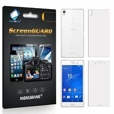 3 FRONT +3 BACK New Brand Membrane Screen Protectors Protect For Sony Xperia Z3