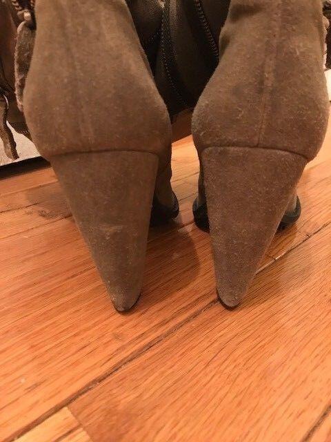 Rare 7 4 Mankind Heel Slouchy Zip Detail Block Heel Mankind Stiefel Größe 8.5 db92b8