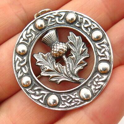 Vintage Robert Allison Scottish Sterling Silver Celtic Penannular Brooch Hallmarked Glasgow 1954
