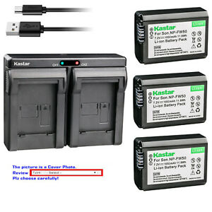 Kastar-Battery-Slim-Dual-Charger-for-Sony-NP-FW50-TRW-ILCE-7M2-Alpha-7-II-a7-II