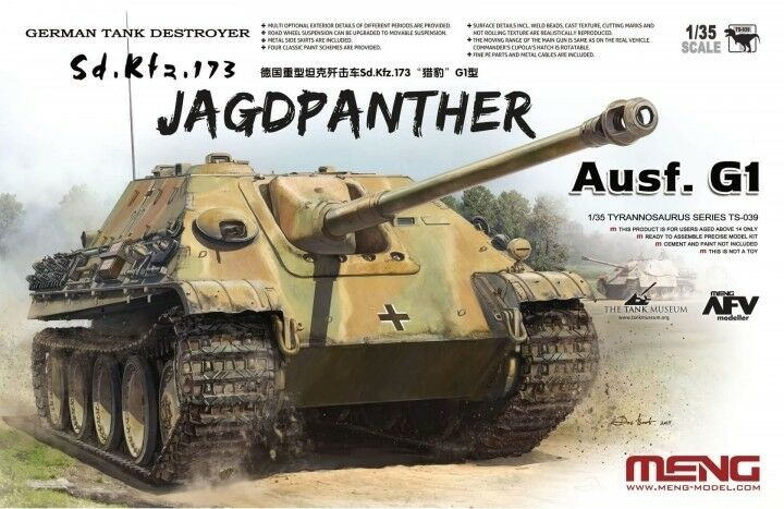 Meng Sd.Kfz.173 Jagdpanther Ausf.G1 Ref TS-039 Escala 1 35