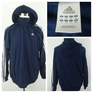 Windbreaker Adidas Proof Clima out M zip Full Navy Hooded Men Jacket Spell F0w7rqUF