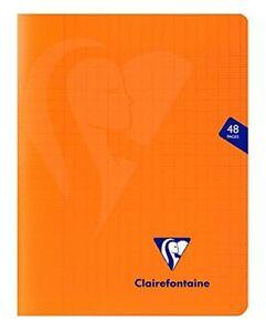 Clairefontaine 383751C Un Cahier Agrafé Mimesys Orange - 17x22 cm 48 Pages Grand