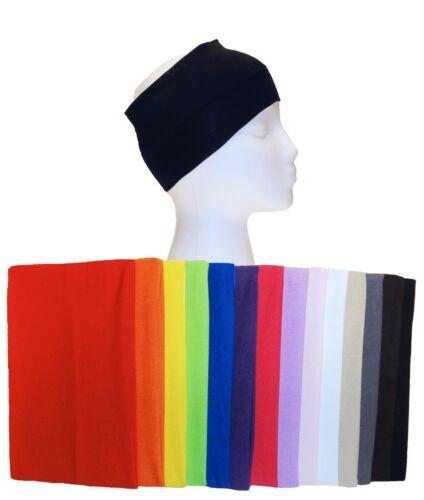"""5/"""" Wide Black Headband Color Stretch Sports Yoga Gym Elastic Hair Band Headwrap"""