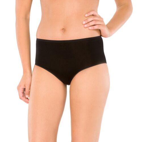 2 SCHIESSER Damen Midi Slips Unterhosen schwarz Jersey Gr 38 40 42 44 46 48