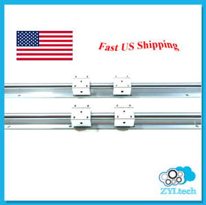 Zyltech SBR16 Linear Rail Set Supported Shaft + Bearing Blocks for CNC 300 mm