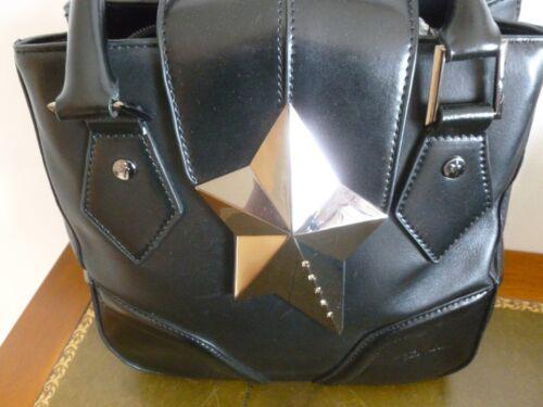 Bon Thierry Tres Etat Noir Muggler Cabas Sac Cuir Tout Forme W70zHB8