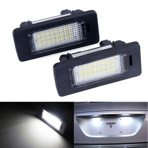 2X-24LED-Error-Free-License-Plate-Light-For-BMW-E82-E88-E90-E92-E39-E60-E61-E70
