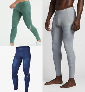 boleto los perdón  Nike Pro Hyperwarm Ultraligero Para Hombre Entrenamiento Mallas running  compresión Gris Y Azul   eBay