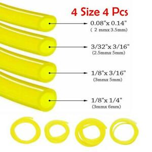 4pcs Petrol Fuel Gas Line Hose Pipe For Trimmer Chainsaw Blower Engine Tools