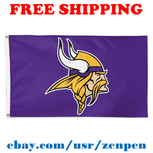 Deluxe-Minnesota-Vikings-Team-Logo-Flag-Banner-3x5-ft-NFL-Football-2019-NEW