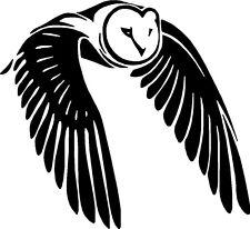 Flying Owl Bird Car,Van Camper Bonnet Window Wall Sticker LSB01