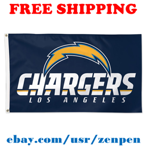 on sale cc00d 66f3c Image is loading Deluxe-Los-Angeles-Chargers-Team-Logo-Flag-Banner-