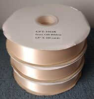 Ivory Gift Ribbon 1.5-inch X 100 Yards Single Face Gft-10168