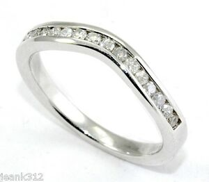 Image Is Loading Lab Diamond Wedding Ring Band 0 30 Ct