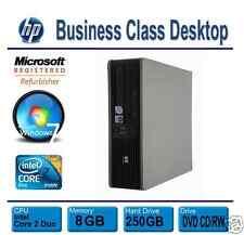 HP Desktop PC Computer Windows 7 (Win 7) Dual Core 8GB RAM 250GB HDD DVD
