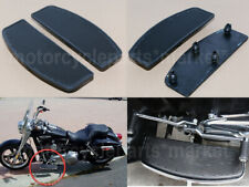 Harley touring softail chrome/&rubber rider footboard floorboard inserts insert