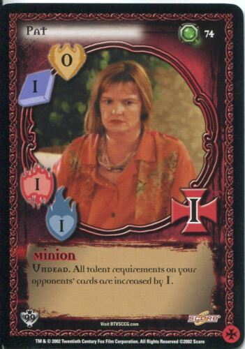 Buffy TVS CCG Limited Class Of 99 Uncommon Card #74 Pat